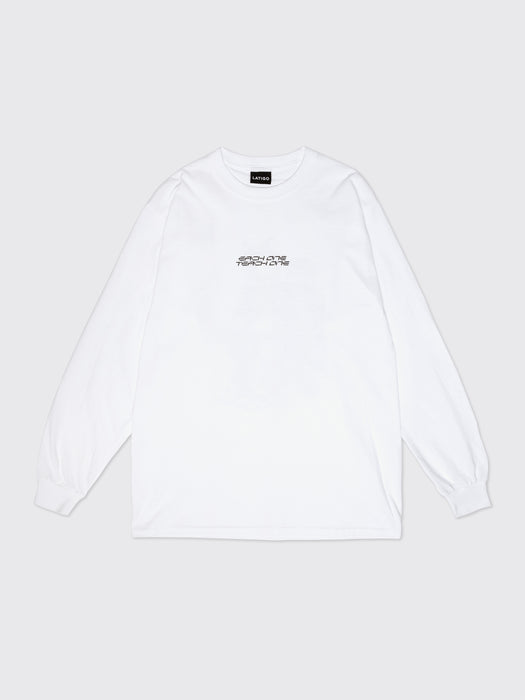 """Each One Teach One"" White Long sleeve"