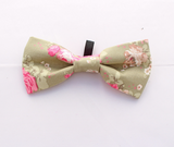 Peppermint Flower Dog Bow Tie