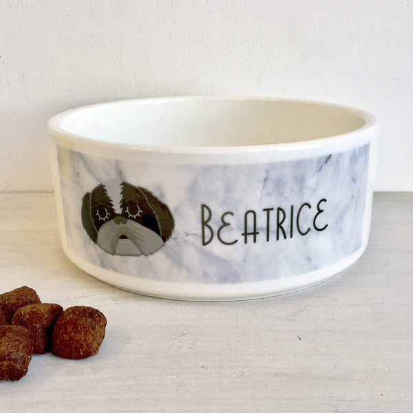 Personalised Dog Bowl Marble
