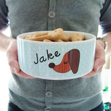 Personalised Dog Bowl Polka Dot