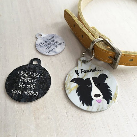 Personalised Dog ID Tag Marble