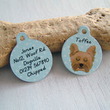 Personalised Dog ID Tag Polka Dot