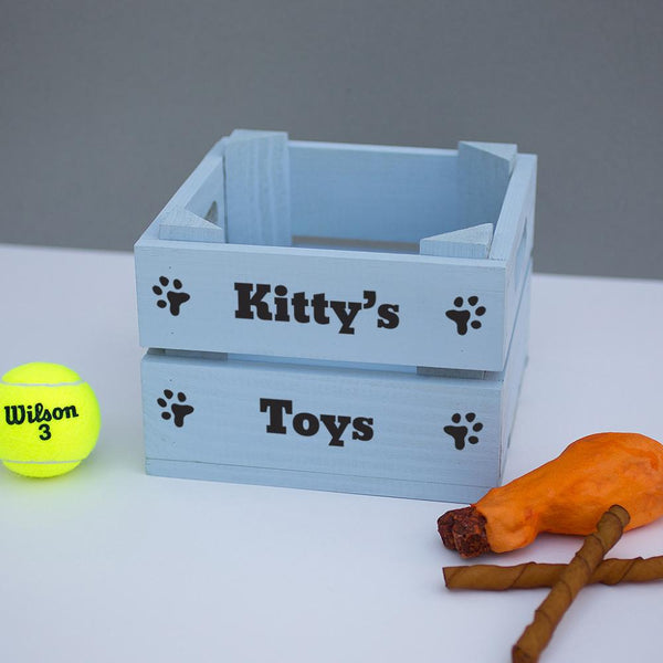 Personalised Dog Toy Crate