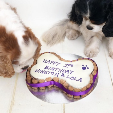 Personalised Dog Birthday Cake Large Bone