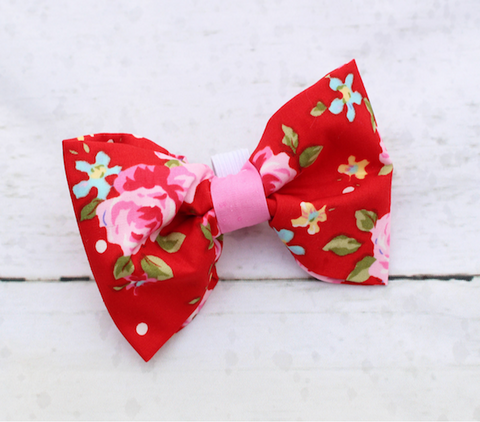 Red Vintage Dog Bow Tie
