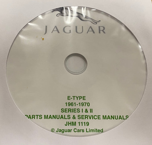 1961-1970 Jaguar E-Type Parts Manuals and Service Manuals
