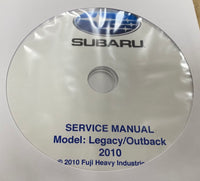 2010 Subaru Legacy and Outback Workshop Manual