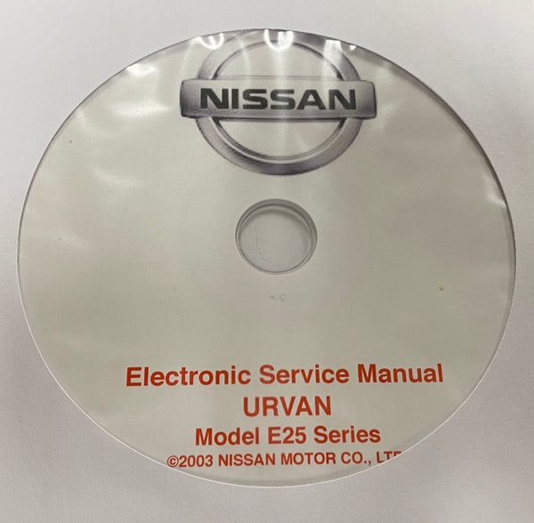 2001-2003 Nissan Urvan Model E25 Series Workshop Manual