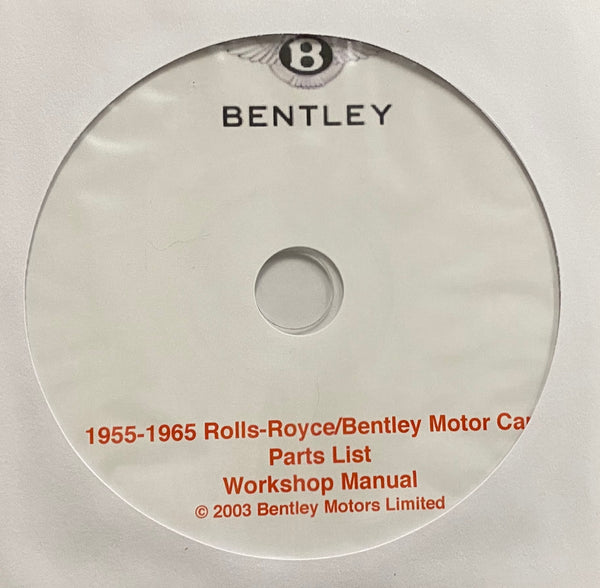 1955-1965 Rolls Royce Silver Cloud I/II/III and Bentley S/S2/S3 Parts List and Workshop Manual