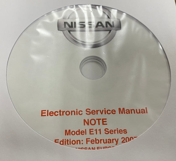 2004-2007 Nissan Note Model E11 series Workshop Manual