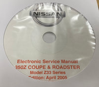 2002-2007 Nissan 350Z Coupe & Roadster Model Z33 Series Workshop Manual