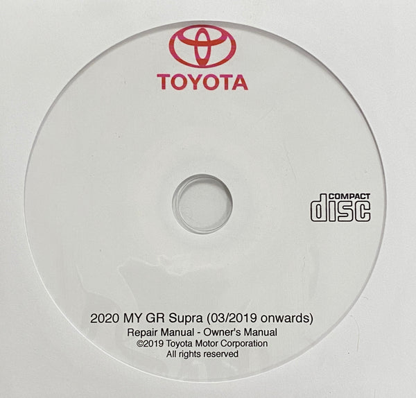 2020 Toyota GR Supra USA Owner's Manual and Repair Manual