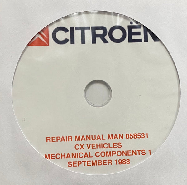 1986-1991 Citroen CX Series 2 Workshop Manual