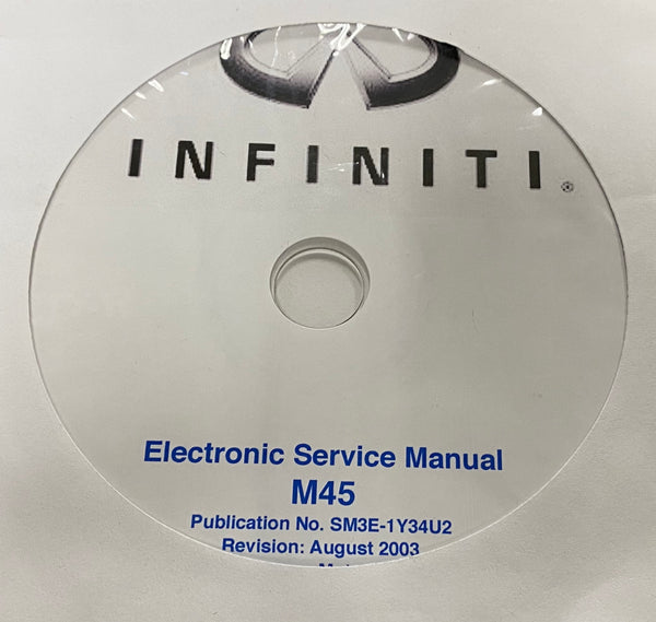 2003 Infiniti M45 US Model Y34 Workshop Manual