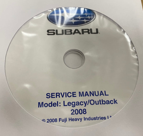 2008 Subaru Legacy and Outback Workshop Manual