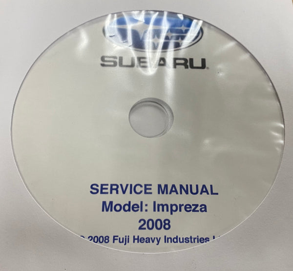 2008 Subaru Impreza Models Workshop Manual