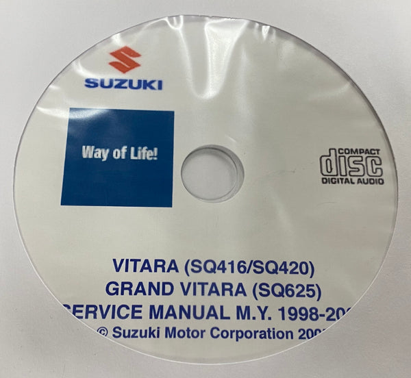1998-2005 Suzuki Vitara and Grand Vitara Service Manual
