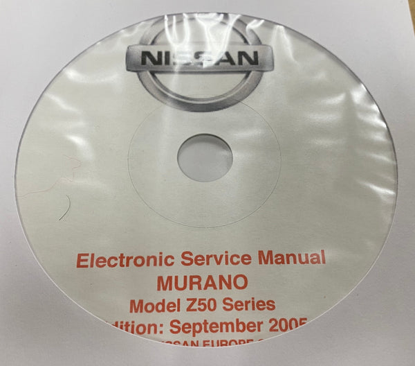 2002-2007 Nissan Murano Model Z50 Series Workshop Manual