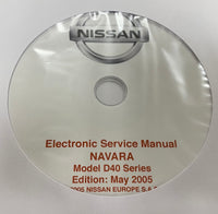 2004-2008 Nissan Navara Model D40 series Workshop Manual