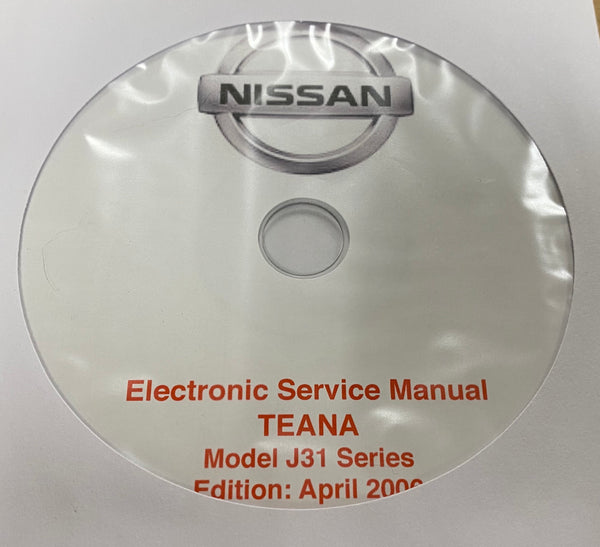 2003-2008 Nissan Teana Model J31 series Workshop Manual