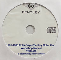 1981-1986 Rolls-Royce/Bentley Workshop Manual
