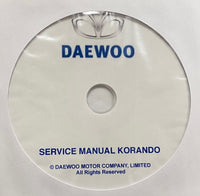 1999-2001 Daewoo Korando Workshop Manual