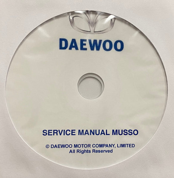 1999-2001 Daewoo Musso Workshop Manual