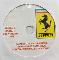 1978 Ferrari 308GTB/308GTS US Spare Parts Catalogue
