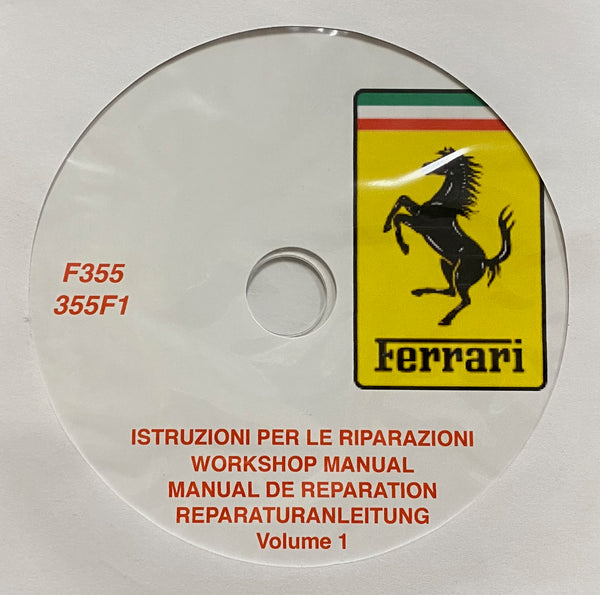 1994-1999 Ferrari F355-355F1 Workshop Manual