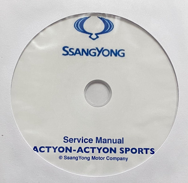 2005-2011 SsangYong Actyon-Actyon Sports Workshop Manual