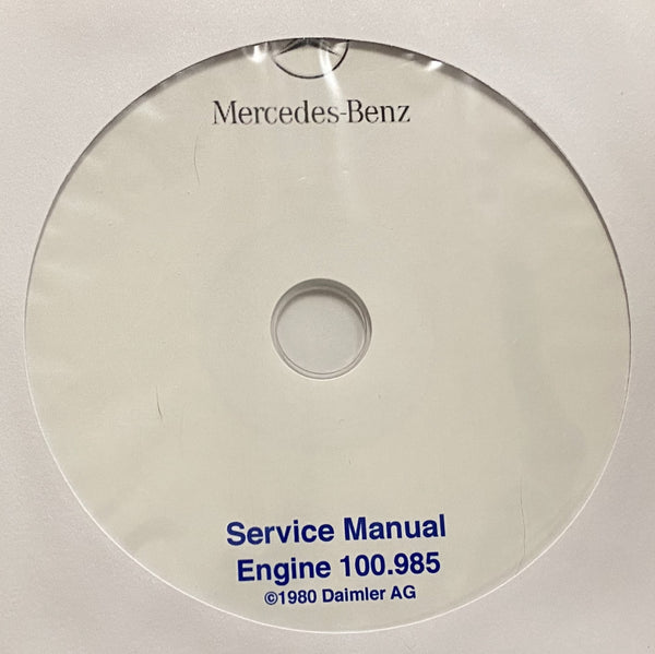 1975-1980 Mercedes-Benz Engine 100.985 (6.9) Workshop Manual