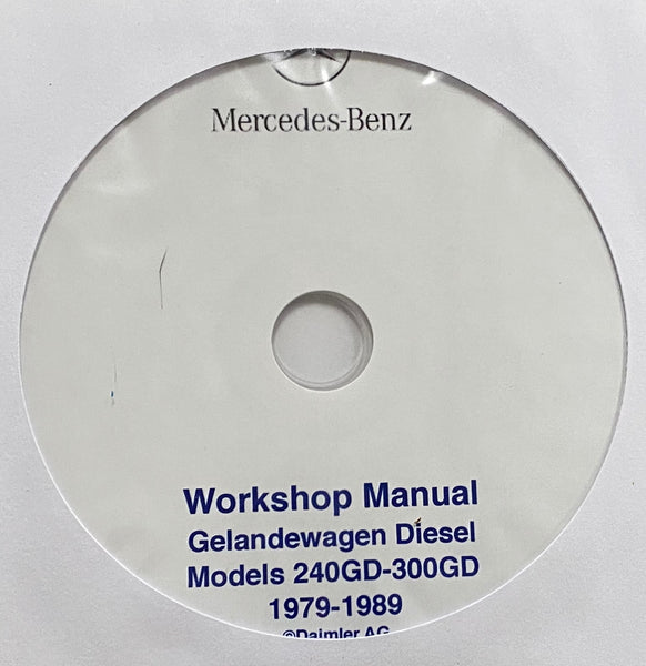 1979-1989 Mercedes-Benz 240GD-300GD Workshop Masnual