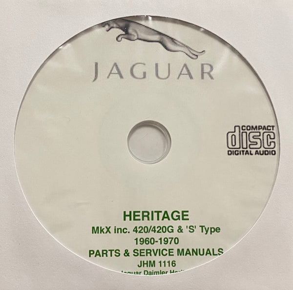 1960-1970 Jaguar MKX, 420, 420G and S Type Parts Catalog & Workshop Manual