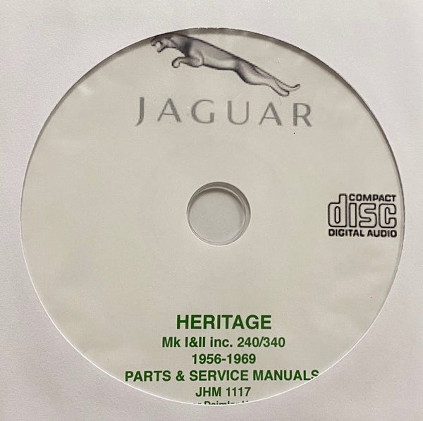 1956-1969 Jaguar Mk. I, Mk. II, 240 and 340 Parts Catalog and Workshop Manual