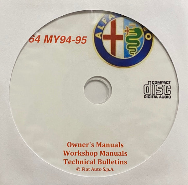1994-1995 Alfa Romeo 164 US Owner's Manual/Workshop Manual/Technical Bulletins