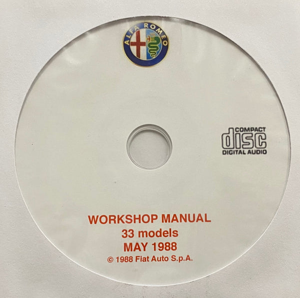 1986-1989 Alfa Romeo 33 models Workshop Manual