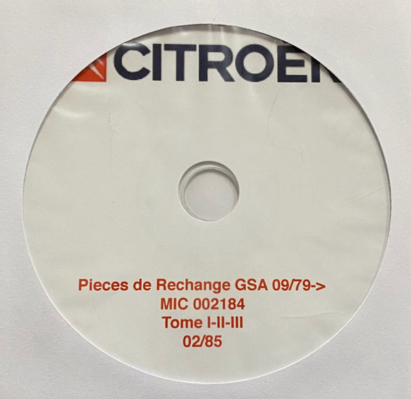 1980-1985 Citroen GSA Parts Catalog