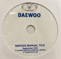 1991-2001 Daewoo Tico Workshop Manual