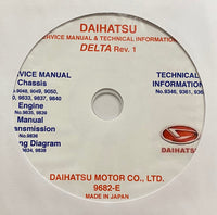 1999-2003 Daihatsu Delta Workshop Manual