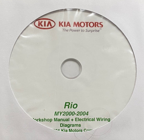 2000-2004 Kia Rio Workshop Manual and Electrical Wiring Diagrams