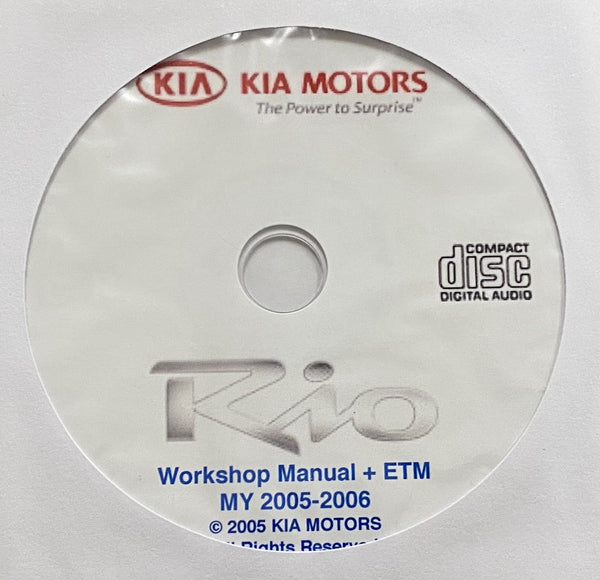 2005-2006 Kia Rio Workshop Manual and Electrical Troubleshooting Manual