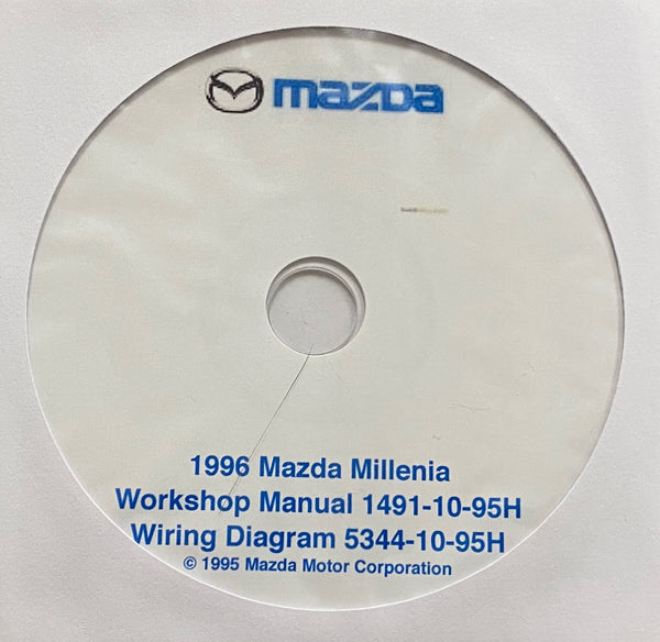 1996 Mazda millenia Workshop Manual and Electrical Wiring Diagrams