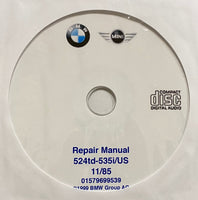 1982-1988 BMW 524td-535i/US E28 Workshop Manual