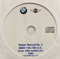 1983-1987 BMW 733i-735i US E23 Workshop Manual