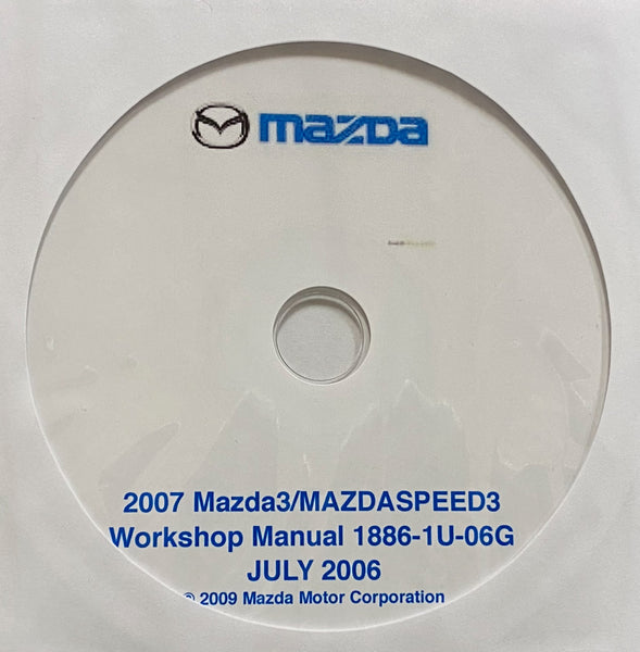 2007 Mazda3-MazdaSPEED3 US WORKSHOP MANUAL