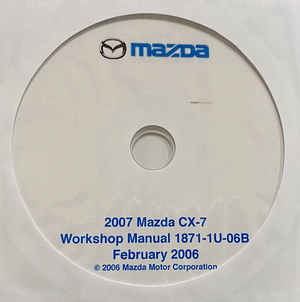 2007 Mazda CX-7 US Workshop Manual
