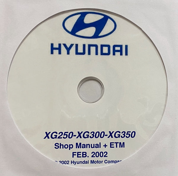 1999-2005 Hyundai XG250-XG300-XG350 Workshop Manual