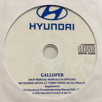 1991-2003 Hyundai Galloper Workshop Manual
