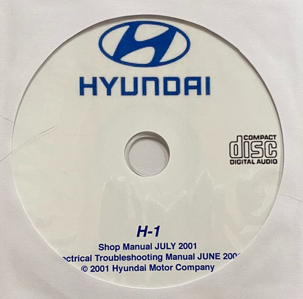 1997-2007 Hyundai H-1 and Starex Workshop Manual