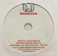 2009-2010 Honda Accord Europe Workshop Manual